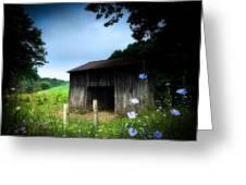 Barn N Flowers Greeting Card