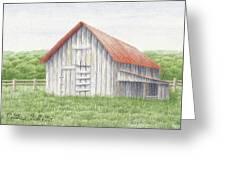 Barn Near Forest Greeting Card