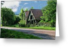 Barn Near Lac De Panthier - P4a160017 Greeting Card