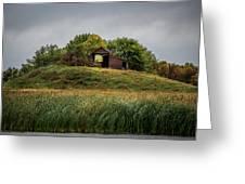 Barn On Hill Greeting Card