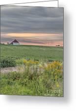Barn On The Horizon  Greeting Card