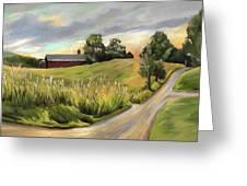 Barn On The Ridge In West Newbury Vermont Greeting Card