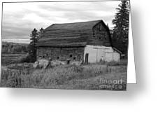 Barn On The River Flat Greeting Card