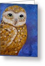 Barn Owl- Impressionism- Owl By Night Greeting Card