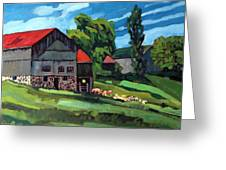 Barn Roofs Greeting Card