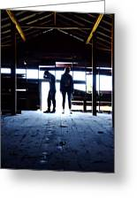 Barn Silhouettes Greeting Card