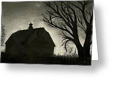 Barn Sillouette Greeting Card by Bryan Baumeister