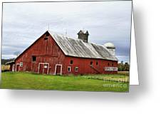 Barn With A Cross Greeting Card