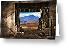 Barn With A View Greeting Card