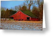 Barn With Double Doors Greeting Card