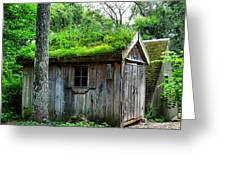 Barn With Green Roof Greeting Card