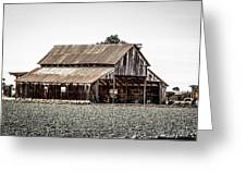 Barn With Outhouse Greeting Card