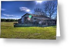 Barn With Sun Flare Greeting Card