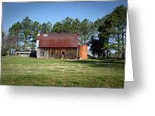 Barn With Tree In Silo Greeting Card by Douglas Barnett