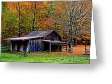 Barn Woodford Mountain Greeting Card