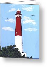 Barnegat Lighthouse Painting Greeting Card