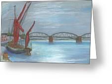 Barnes Bridge Greeting Card