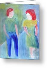 Barney And Elizabeth Greeting Card