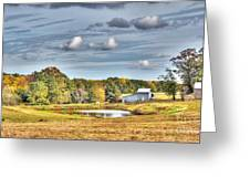 Barns And Pond On A Fall Day Greeting Card
