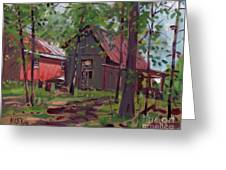 Barns In April Greeting Card