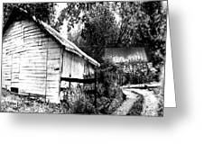 Barns In Black And White Greeting Card