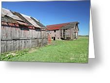 Barns Of Old Greeting Card