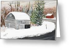 Barns Of West Sand Lake 2 Greeting Card