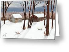 Barns Of West Sand Lake Greeting Card