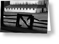 Barnyard Gate Greeting Card