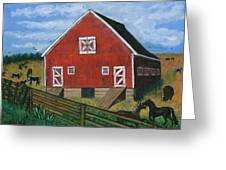 Barnyard On The Prairie Greeting Card