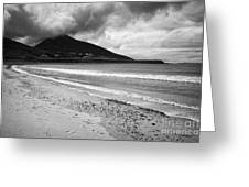 Barnynagappul Strand On The Wild Atlantic Way Coastal Route Doogort Achill Island County Mayo Irelan Greeting Card