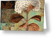 Baroque Hydrangea Patchwork Greeting Card