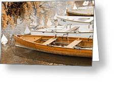 Barque Automne Greeting Card