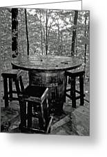 Barrel In The Woods Greeting Card