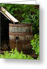 Barrel Of Water Greeting Card