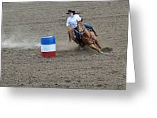 Barrel Racer Two Greeting Card