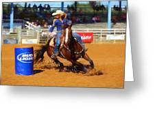 Barrel Rider Greeting Card