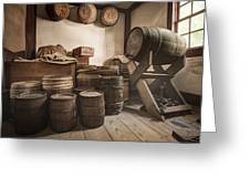 Barrels By The Window Greeting Card by Gary Heller