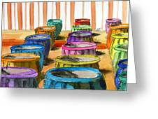 Barrels Of Color Greeting Card