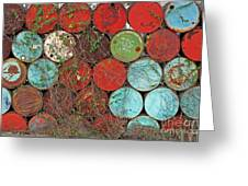Barrels - Play Of Colors Greeting Card