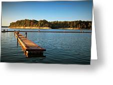 Barren River Lake Dock Greeting Card