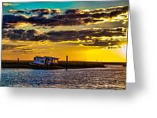 Barrier Island Sunset Greeting Card