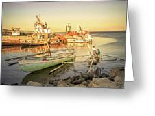 Barriquant Dock Under Sunset  Greeting Card