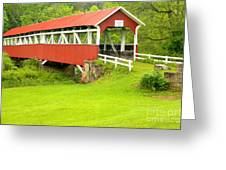 Barron's Covered Bridge Greeting Card