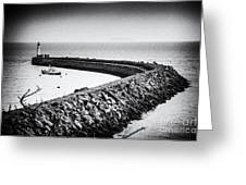 Barry Island Breakwater Film Noir Greeting Card
