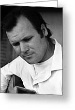 Barry Sadler 1 With Guitar Tucson Arizona 1971 Greeting Card