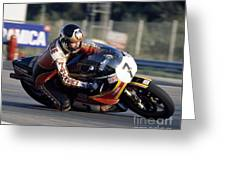 Barry Sheene. 1978 Nations Motorcycle Grand Prix Greeting Card