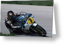 Barry Sheene. 1984 Nations Motorcycle Grand Prix Greeting Card