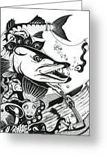Barrycuda And Worm Greeting Card