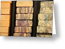 Bars Of Handmade Soap Greeting Card